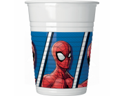 8 stk plastik kopper Spiderman 200 ml
