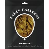 "Nytårs ballonpakke 50 stk. Guld metallic 12""(30cm)"
