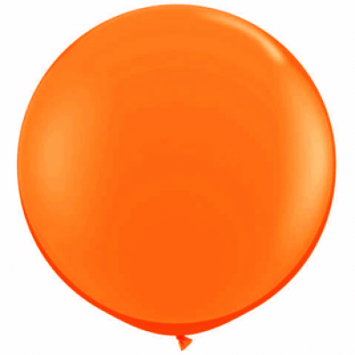 "Orange metallic 40""(Ø 100 cm) latex ballon(kuglerund)"