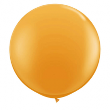 "Orange pastel 52""(Ø 130 cm) latex ballon(kuglerund)"