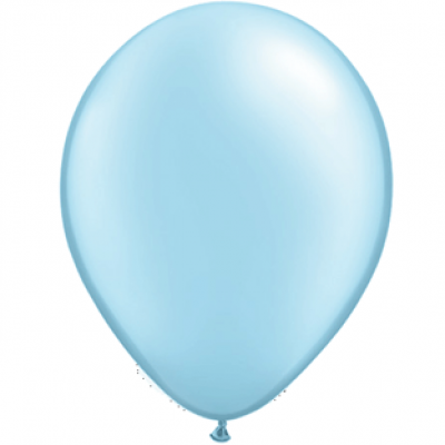 "Lyseblå metallic 12""(30cm) latex ballon"