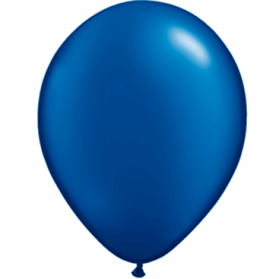 "Mørkeblå metallic 14""(35cm) latex ballon"