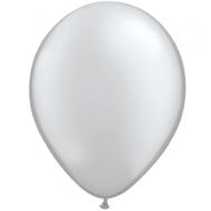 "Sølv metallic 14""(35cm) latex ballon"
