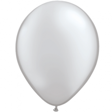 "Sølv metallic 12""(30cm) latex ballon"