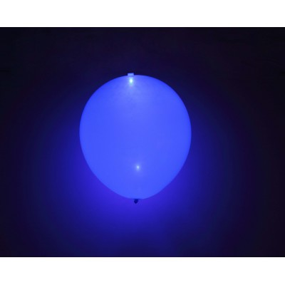 "Blå LED 11"" latex ballon - 5-Pack"