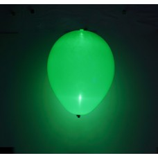 "Grøn LED 11"" latex ballon - 5-Pack"