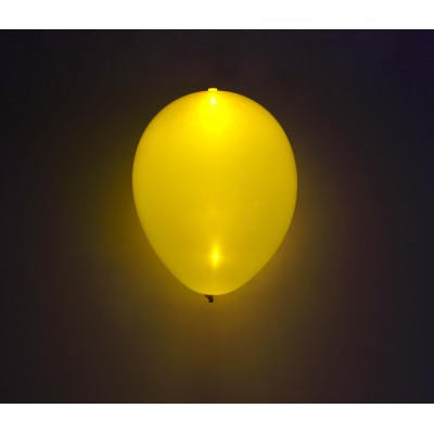 "Gul LED 11"" latex ballon - 5-Pack"