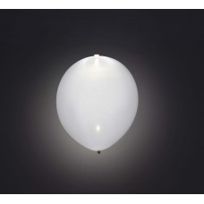 "Hvid LED 11"" latex ballon - 5-Pack"