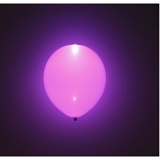 "Lilla LED 11"" latex ballon - 5-Pack"