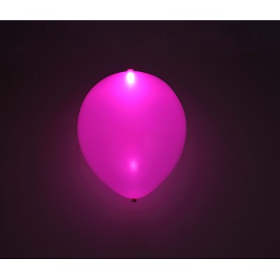 "Pink LED 11"" latex ballon - 5-Pack"