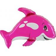 "Spækhugger pink folie ballon 31"" (u/helium)"