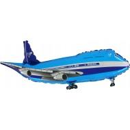"""Fly blå folie ballon 29"""" (u/helium)"""