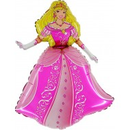 "Prinsesse Kjole folie ballon 28"" (u/helium)"