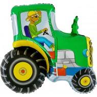 "Traktor grøn folie ballon 29"" (u/helium)"