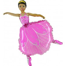 "Ballerina folie ballon 30"" (u/helium)"
