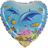 """Delfin folie ballon 18"""" (u/helium)"""