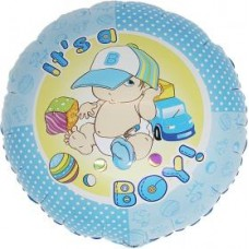 "It's A Boy folie ballon 18"" (u/helium)"