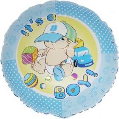 "It's A Boy folie ballon 18"" (u/helium)"