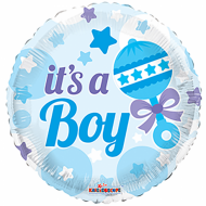 "It's A Boy med rangle folie ballon 18"" (u/helium)"