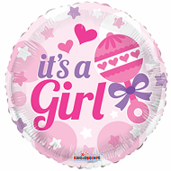 "It's A Girl med rangle folie ballon 18"" (u/helium)"