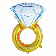 "Diamant Ring folie ballon 28"" (u/helium)"
