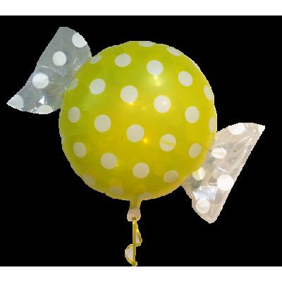 """Bolsje Gul folie ballon 18"""" (uden helium)"""