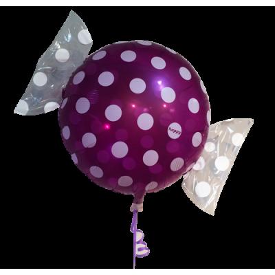 "Bolsje Lilla folie ballon 18"" (uden helium)"