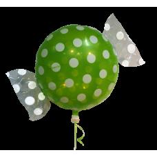 """Bolsje Lime folie ballon 18"""" (uden helium)"""