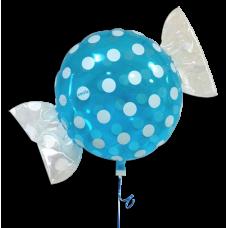 """Bolsje Lyseblå folie ballon 18"""" (uden helium)"""