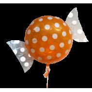 "Bolsje Orange folie ballon 18"" (uden helium)"