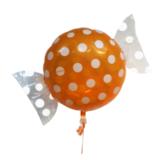 "Bolsje Orange folie ballon 18"" (uden helium)"