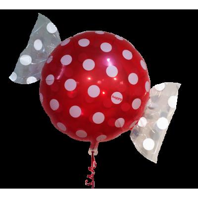 """Bolsje Rød folie ballon 18"""" (uden helium)"""