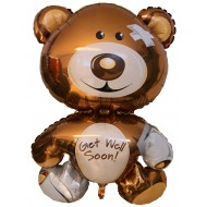 "Get Well Soon bamse folie ballon 30"" (u/helium)"