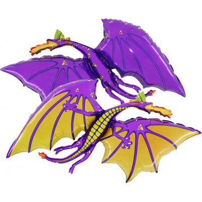 "Drage lilla folie ballon 36"" (u/helium)"
