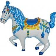 """Cirkushest blå folie ballon 36"""" (u/helium)"""
