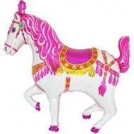 "Cirkushest pink folie ballon 36"" (u/helium)"