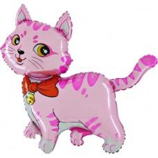 "Kat pink folie ballon 36"" (u/helium)"