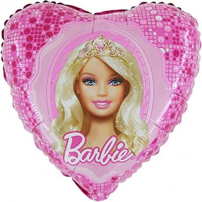 "Barbie Prinsesse licens hjerte folie ballon 18"" (u/helium)"