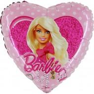 "Barbie licens hjerte folie ballon 18"" (u/helium)"