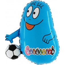 "Barbabravo m/Bold blå licens folie ballon 27"" (u/helium)"