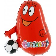 "Barbabravo m/Bold rød licens folie ballon 27"" (u/helium)"