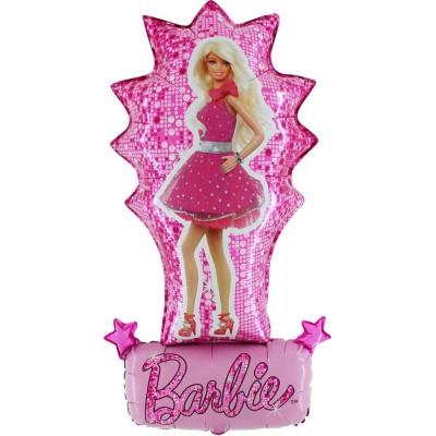 "Barbie kjole licens folie ballon 33"" (u/helium)"
