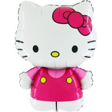 "Hello Kitty pink licens folie ballon 30"" (u/helium)"