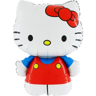 "Hello Kitty rød licens folie ballon 30"" (u/helium)"