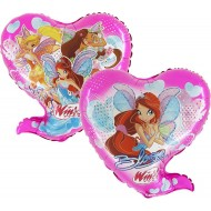 "Winx pink licens hjerte folie ballon 26"" (u/helium)"