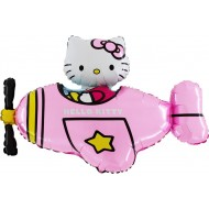 "Hello Kitty Fly pink licens folie ballon 30"" (u/helium)"