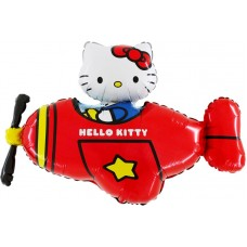 "Hello Kitty Fly rød licens folie ballon 30"" (u/helium)"