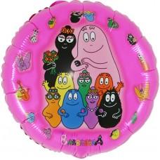 "Barbapapa Familie pink licens rund folie ballon 21"" (u/helium)"