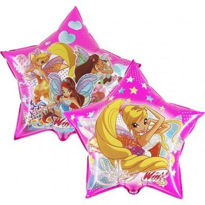 "Winx pink licens stjerne folie ballon 24"" (u/helium)"