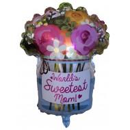 "Worlds Sweatest Mom Buket folie ballon 18"" (u/helium)"